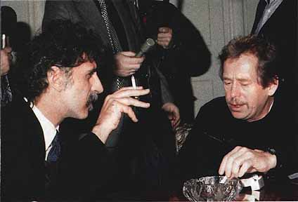 Frank Zappa and Vaclav Havel, 1990